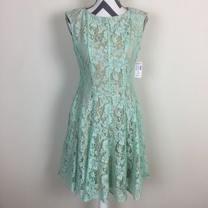 NWT Julian Taylor Mint Green Lace Dress Size 8P